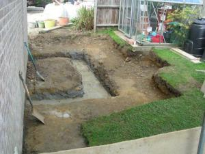 Shed foundations - and a gap in the fence