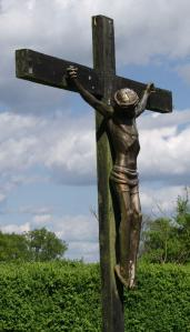 The crucifix in the grounds at Furzey