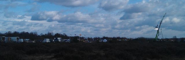 RUSH film set at Blackbushe, 5th March 2012