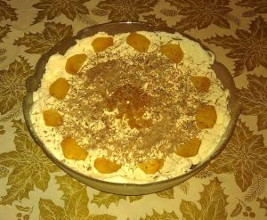 Christmas Cranachan with Stem Ginger and Chocolate decoration