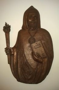 Carving of St. Benedict in Alton Abbey