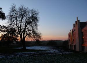 Sunset at Ripon College Cuddesdon 15th January 2013 (the new Harriet Monsell building is on the right)