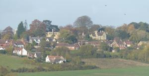 The Holy Hill (Ripon College Cuddesdon) photographed from long distance.