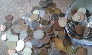 Our collection of 'funny money' great for telling stories like that of the calling of Matthew!