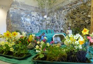 The Easter Garden at St. Mary's Old Basing and Lychpit, before I took it down!