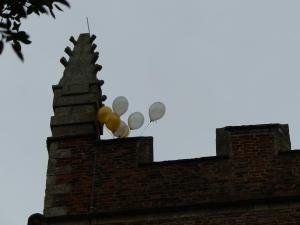 Our Ascension Day balloons that were released from the top of St. Mary's tower during our Ascension Day acclamations.