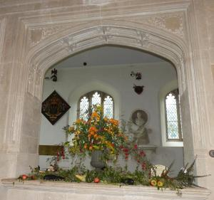 Harvest decorations, St. Mary's Old Basing 2014