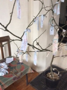 People around Old Basing and Lychpit started this Prayer Tree at All Hallows, but it remains in church as we know remember in prayer those who have lost their lives in recent terrorist attacks.